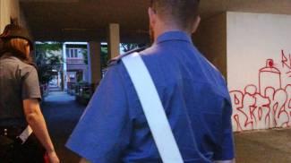 Un fermo immagine tratto da un video dei carabinieri di Roma