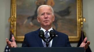 Joe Biden dopo il G7 (Ansa)