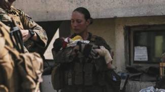 Nicole Gee, la marines 23enne è morta nell'attacco all'aeroporto (Ansa)