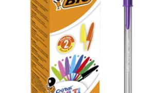 Penne Bic multicolore su amazon.com