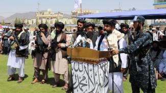 Cerimonia dei talebani a Kandahar (Ansa)