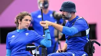 Paralimpiadi, tiro con l'arco: gli azzurri Elisabetta Mijno e Stefano Travisani (Ansa)