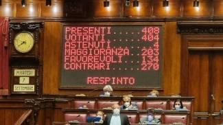 Il risultato sull'emendamento di Fdl votato anche dalla Lega