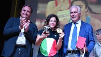 La consegna del Pegaso dello Sport con il presidente Giani e l'assessore Marras