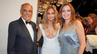 Lucia Borgonzoni con Alberto Barbera e Jennifer Lopez