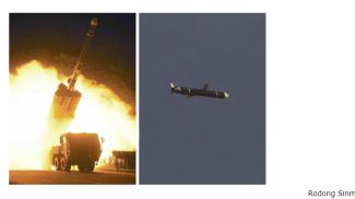 Le foto del Rodong Sinmun con i missili testati nel finesettimana in Corea del Nord