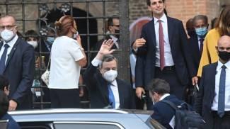 Il premier Mario Draghi a Bologna (FotoSchicchi)