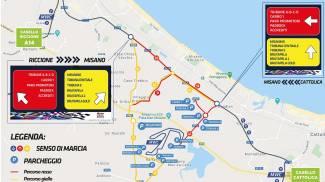 La mappa per raggiungere il circuito di Misano