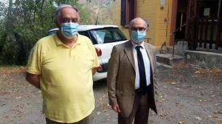Da sinistra, Roberto Brogli con l'avvocato Mauro Molesini