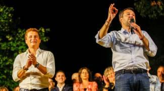 Matteo Salvini a Sesto Fiorentino (foto Germogli)