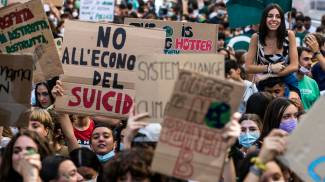 Manifestazione sul clima a Roma