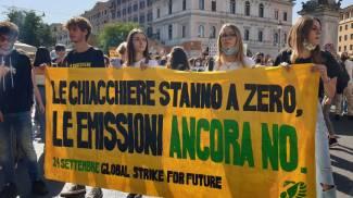 Corteo sul clima a Roma
