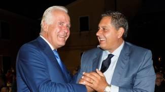 Giani e Toti durante l'incontro (Foto Pasquali)