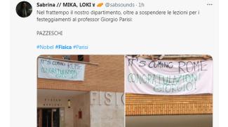 Il tweet di una studentessa di Parisi