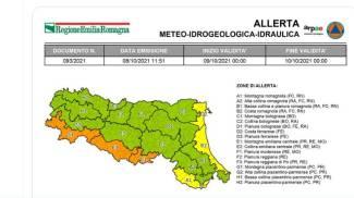 Emilia Romagna: allerta arancione per vento (Twitter)