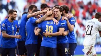 Italia-Belgio, Nations League: l'esultanza degli Azzurri (Ansa)