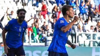 La gioia di Barella per il gol (Ansa)