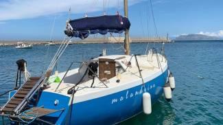 La barca dell'imprenditore palermitano Andrea Taormina (Ansa)