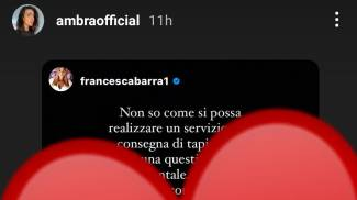 Ambra Angiolini condivide Francesca Barra su Instagram